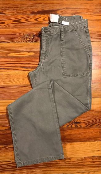 Pantalón Mujer Importado Gap Estilo Cargo Verde Seco