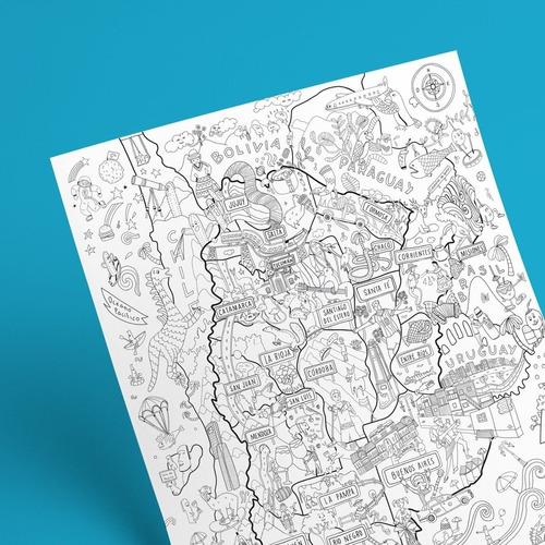 Atlantis Mapas - Proyecto Argentina Para Colorear  Cuotas