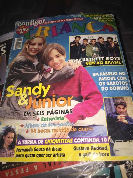Sandy E Júnior - Revista Contigo Criança 1998 - Rara