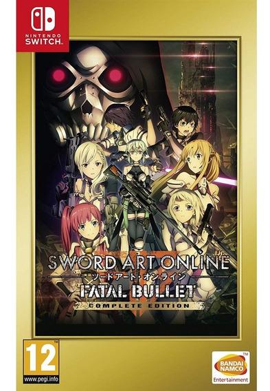 Sword Art Online Fatal Bullet Complete Edition Switch Novo