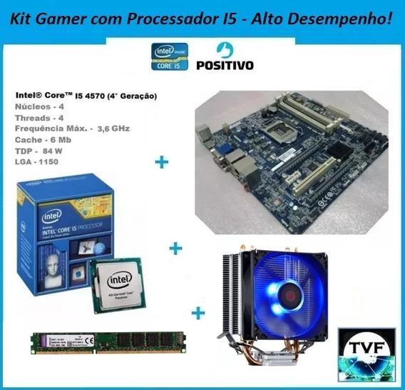 Kit Gamer Placa Mãe Pos-eiq87cy Intel I5 8gb Ram Cooler Pcyes