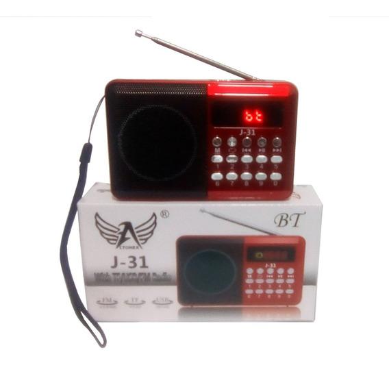 Rádio Portátil Digital Fm Bluetooth Usb Radinho Recarregável