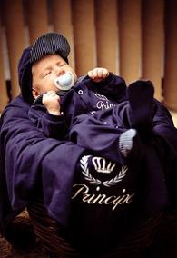 Kit Saída De Maternidade Príncipe Azul Marinho Bebê Menino