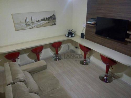 Imagem 1 de 10 de Apartamento Com 2 Dormitórios À Venda, 56 M² Por R$ 230.000 - Jardim Paulicéia - Campinas/sp - Ap17927
