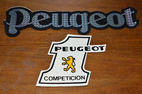 Peugeot Calcos Originales Antiguos Lote X 2 No Repro. Nro 1