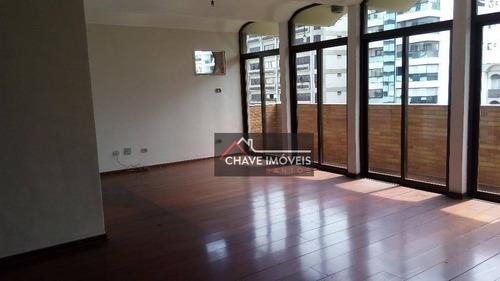 Imagem 1 de 30 de Apartamento Com 4 Dormitórios Para Alugar, 185 M² Por R$ 6.500,00/mês - Boqueirão - Santos/sp - Ap1550