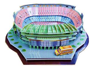 Rompecabezas 3d Puzzle Estadio Nou Camp Barcelona 79 Pzas