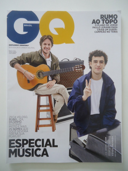 Revista Gq #90 Zeca Veloso E Rubel - Nov 2018