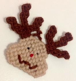 Enfeite Natal Decoração Ímã Geladeira Rena Crochê Linda!