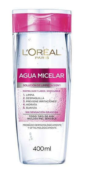 Agua Micelar Desmaquillante Piel Sensible 400ml Loréal Paris