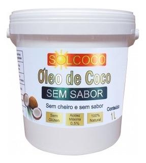 Óleo De Coco Sem Sabor E Sem Cheiro 1 Litro - Solcoco