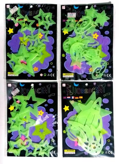 Estrellas Luna Planetas Fluorescentes X 46 A 50 Unidades