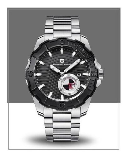 Relógio Pulseira De Aço Automático Pagani Design Pd 1636