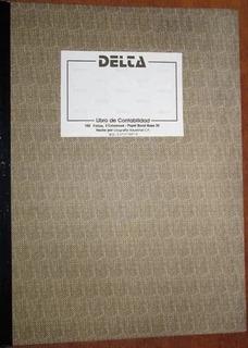 Libro De Contablidad 2 Columnas Marca Delta