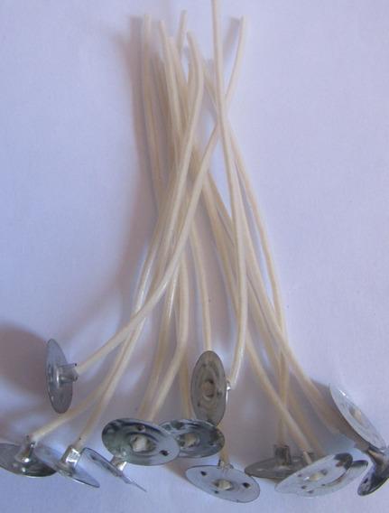 120 Uni Pavio P/ Velas Decorativas De Parafina 9cm D Altura