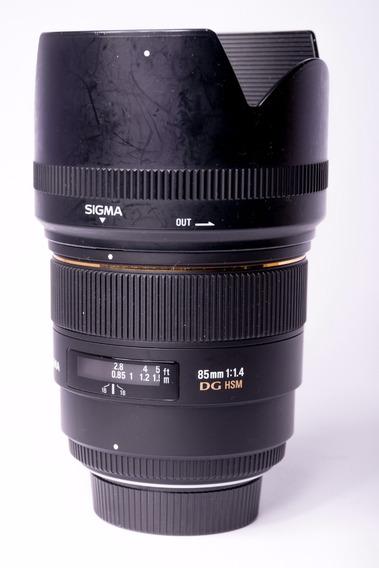 Lente Sigma 85mm 1.4 Ex Dg P/ Nikon 12x S/ Juros