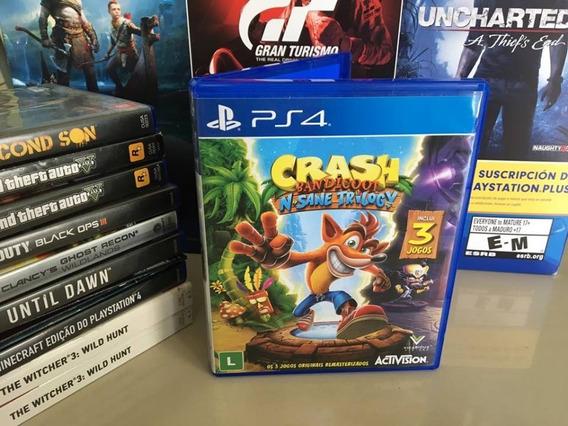 Crash Bandicoot N Sane Trilogy Ps4 Original Semi Novo Dvd