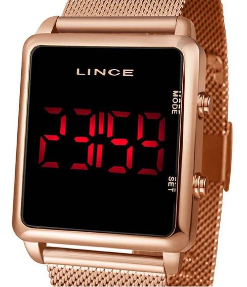 Relógio Digital Led Lince Feminino Mdr4596l Pxrx Rose C/nf-e