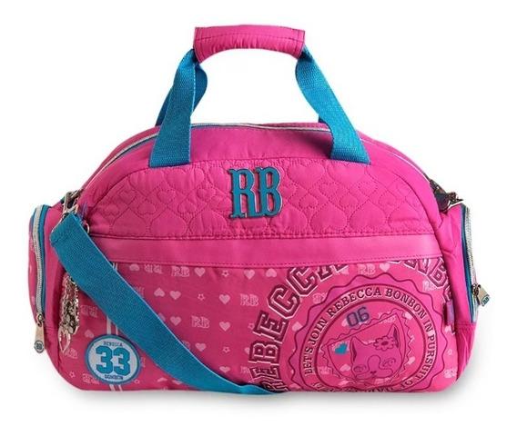 Bolsa Rebecca Bonbon Feminina Rb7184 Mala Passeio Academia