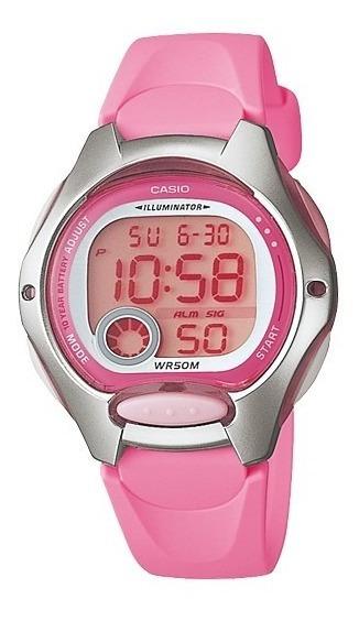 Relógio Casio Feminino Lw 200 Resina Rosa Prova Dágua 50m