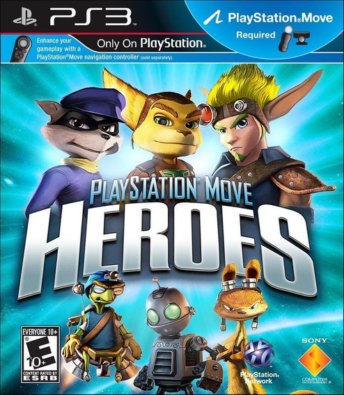 Jogo Playstation Move Heroes Ps3 Ps Move Frete Grátis