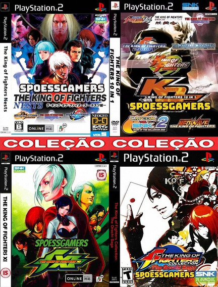 Kof Ps2 Coleção (4 Dvds) Patch The King Of Fighters .