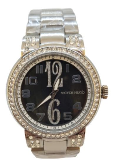 Relógio Feminino Prateado Victor Hugo Vh10061lss/30m