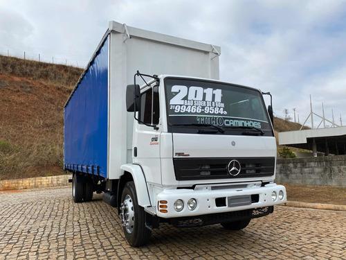 Imagem 1 de 12 de Caminhão Mb 1718 2011 Bau Sider 8.60 Super Novos