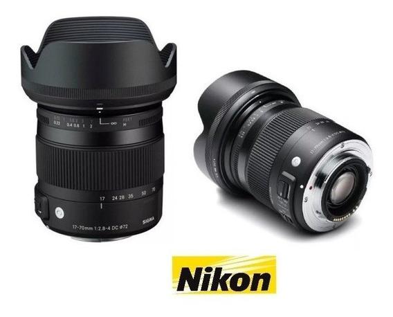 Lente Sigma 17-70mm F/2.8-4dc Macro Os Hsm Nikon