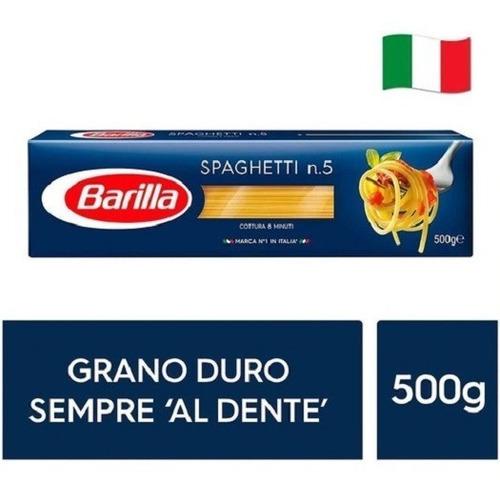 Imagen 1 de 1 de Fideos Italianos Pasta Barilla Spaghetti 500g Env Gra Caba