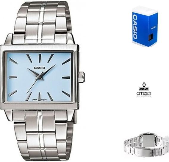 Reloj Casio Ltp1334 2a Mujer Fondo Azul Acero Inoxidable