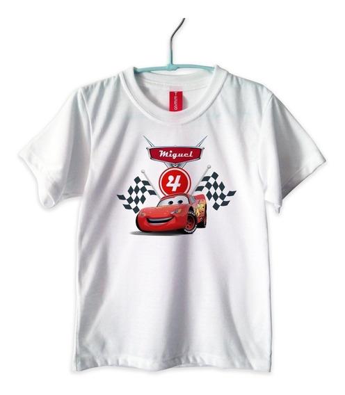 10 Playeras Personalizada Niño Niña Cumpleaños Cars Mcqueen