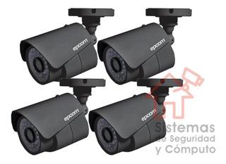 Cámara 4 Pack Bullet Turbohd 1080p, 2.8mm Climas Extremos