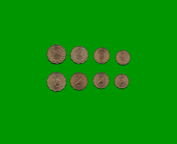 Paraguay Serie De Cuatro Monedas Años 1953, Estado Unc.-