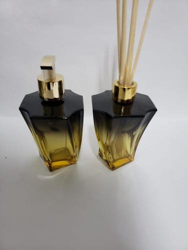 Imagem 1 de 3 de Kit Lavabo Frasco Elegance Malbec +sabonete+aromatizador