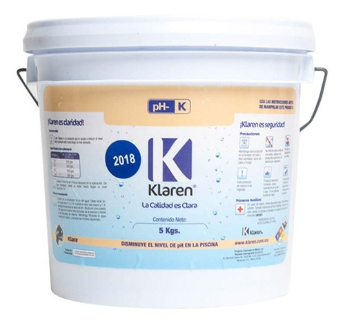 Ph- Polvo Klaren 5 Kg Disminuye Ph De Agua De Albercas