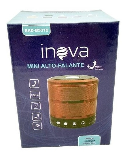 Mine Caixa De Som Bluetooth Inova Rad-b5312