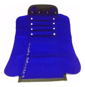 Mostruário Jóias Grande Em Veludo Azul Royal - 24 X 59 Cm