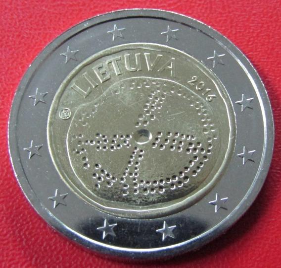 Lituania Moneda Bimetalica 2 Euros 2016 Unc Cultura Lituana
