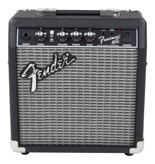 Amplificador Fender Frontman 10G 10W transistor negro y plata 220V