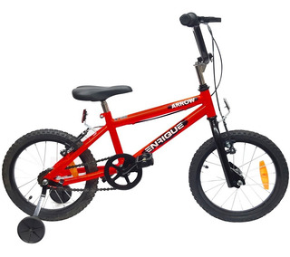 Bicicleta Rodado 14 Bmx Arrow Cuadro Acero C/ Rueditas Apoyo
