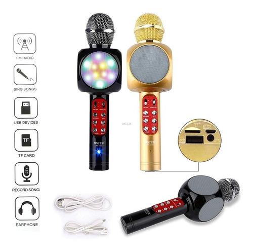 Microfono Karaoke 1816, Led, Usb,sd, Efectos Voz, Grabacion.
