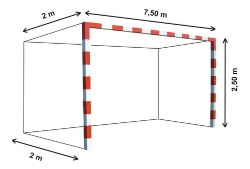 Imagen 1 de 6 de 2 Redes Arco Futbol Profesional 7,5x2,5m Cajon 2m Cuerda 4mm - Resiste Agua Y Sol - Stock De Red