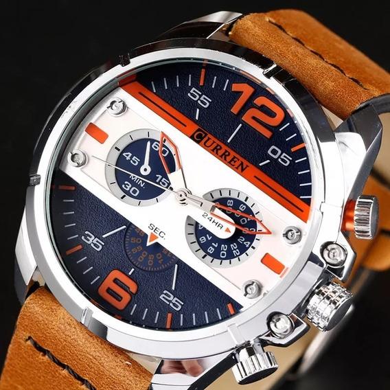 Relógio Masculino Curren Couro Modelo Cn-8259