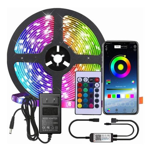 Imagen 1 de 9 de Kit De Luces De Tira Led 10m Control Bluetooth Y Sinc Música