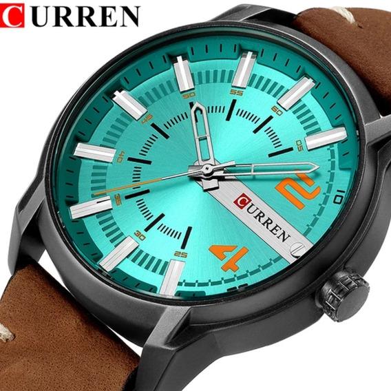 Relógio Curren 8306 Fulcional Marca De Luxo Pulceira Couro