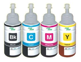 Kit Refil Tinta P/ Impressora Epson Hp Canon 4x100ml 4 Cores