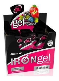 Iron Gel Gentech Con Cafeina 24 Sobres