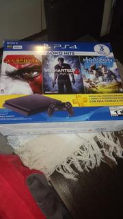 Playstation 4. Con 5 Juegos Físicos Y 4 Descargados.