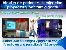 Alquiler De Pantalla Proyector Parlantes Iluminacion Equipos